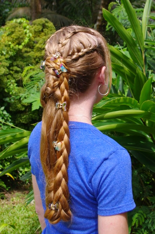 Braids Hairstyles For Super Long Hair Braided Ponytail
