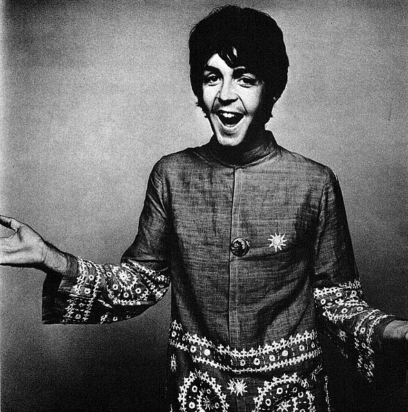 Paul McCartney Photographed By David Bailey In The Late 60s Wearing An Amazing Embroided Tunic Which Will Add A Bohemin Twist To Any Summer