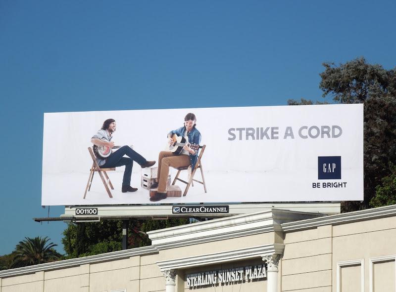 Gap Avett Brothers Strike cord billboard