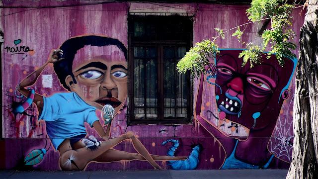 naira y piguan graffiti arte callejero en santiago de chile