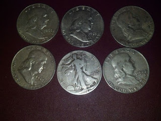 Franklin Walking Liberty Silver Half Dollar Coins