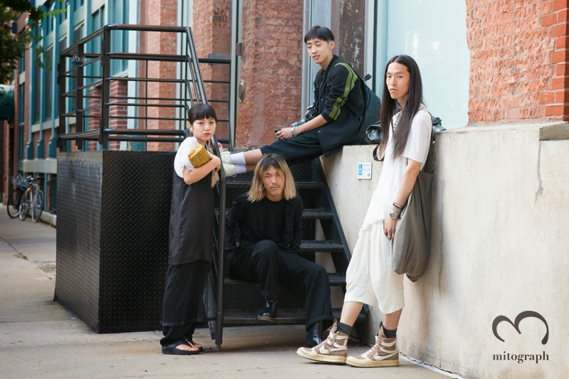 Asian Street Style photographers and model at New York Fashion Week NYFW