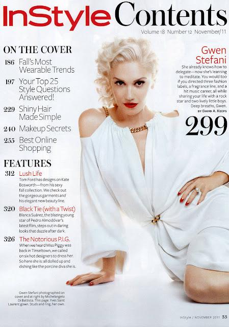 Gwen Stefani Instyle US Magazine