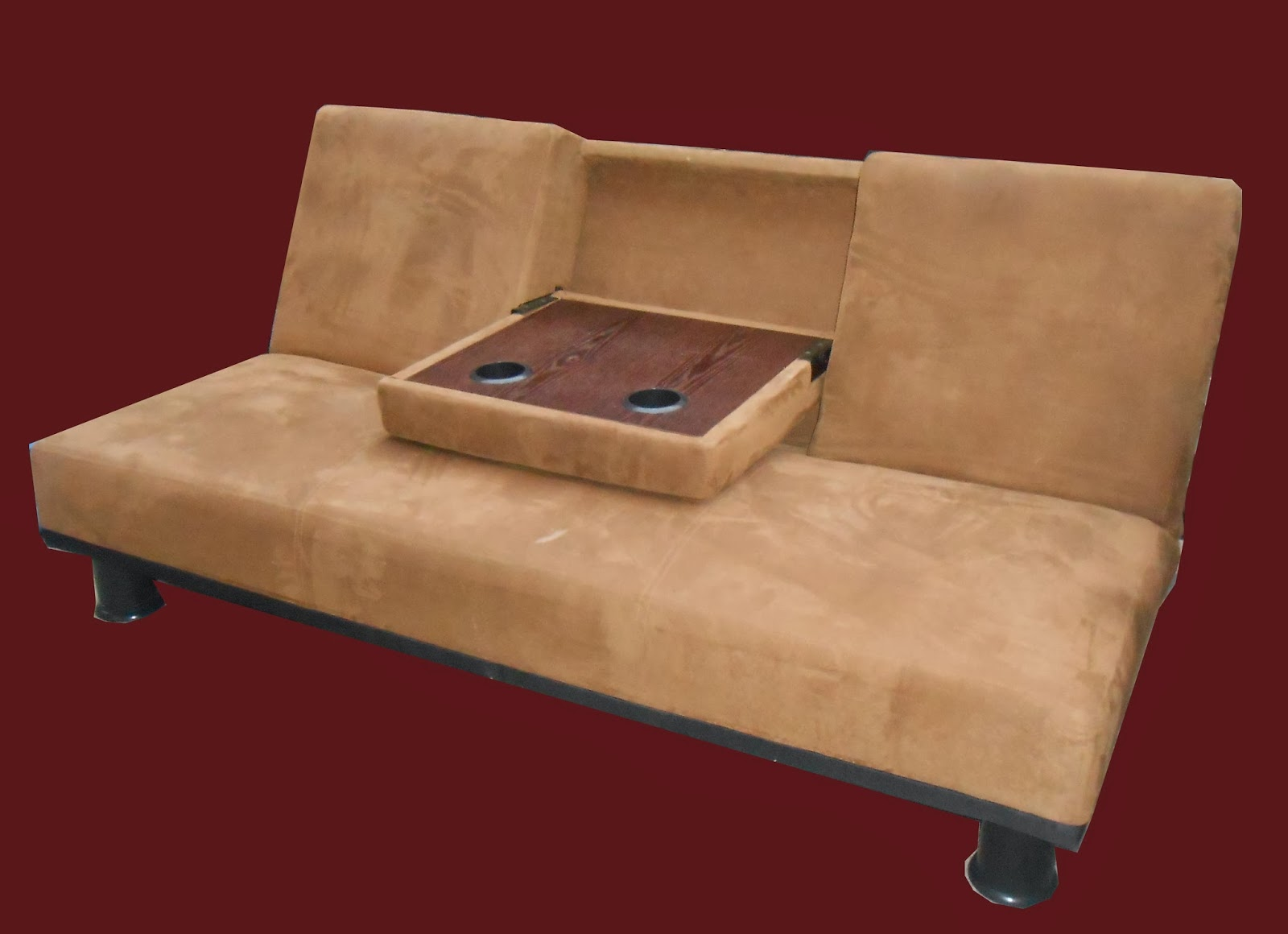 tan futon with cup holders sold uhuru furniture  u0026 collectibles  tan futon with cup holders sold  rh   uhurufurniturephilly blogspot