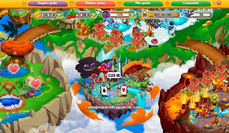 imagen de la isla de las maravillas de dragon city