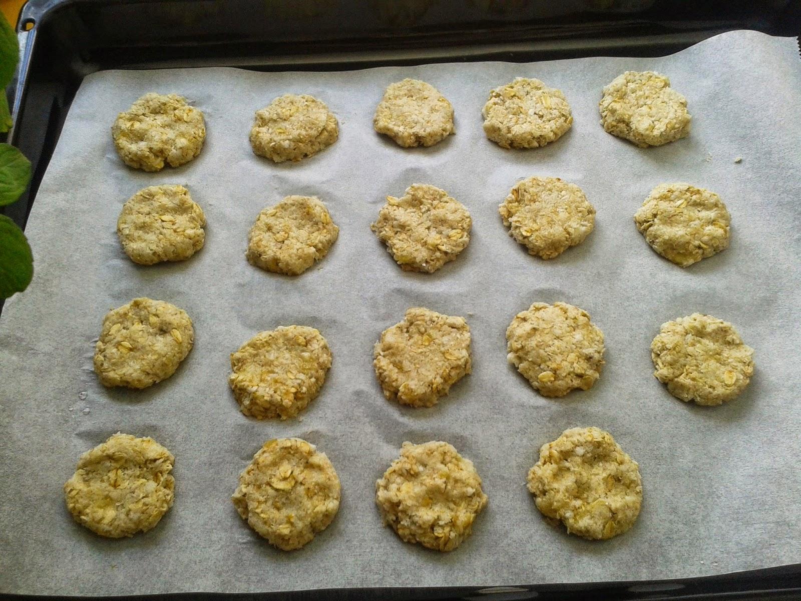 galletas de avena coco y banana