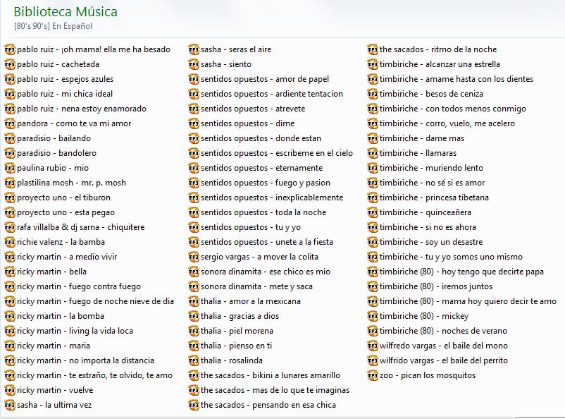 2269 Musica De Los 80 S Y 90 S En Espa 241 Ol Mg