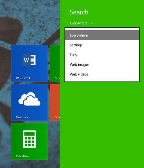Để tìm kiếm tốt hơn và nhanh hơn trên Windows 8.1 3