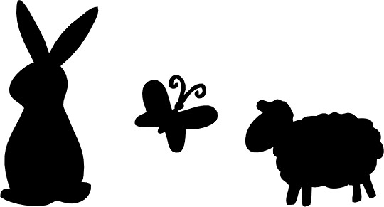 A place to BE HAPPY!...: Easter Animal Silhouettes