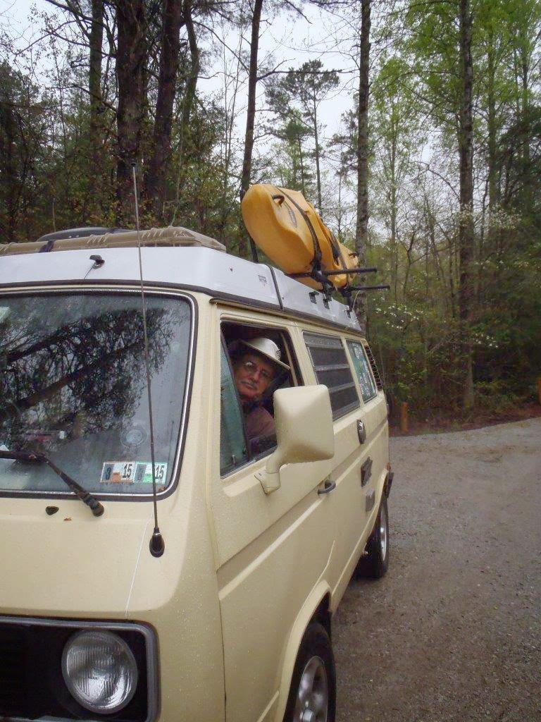 Livin' in a van....down by the river!