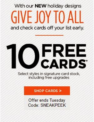 10 FREE Cards from Shutterfly (Exp. 9/16)