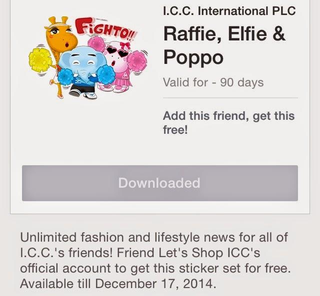 Raffie, Elfie & Poppo stickers.