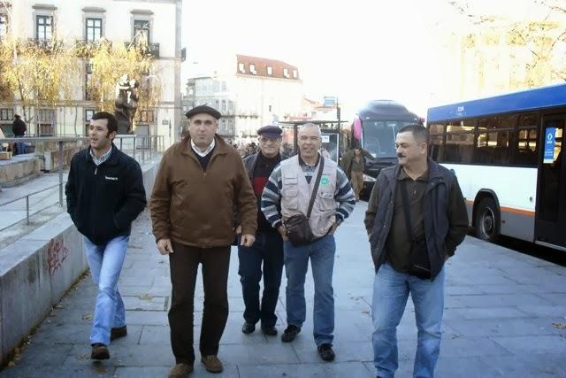 Nesta imagem, alguns dos meus colegas de viagem.