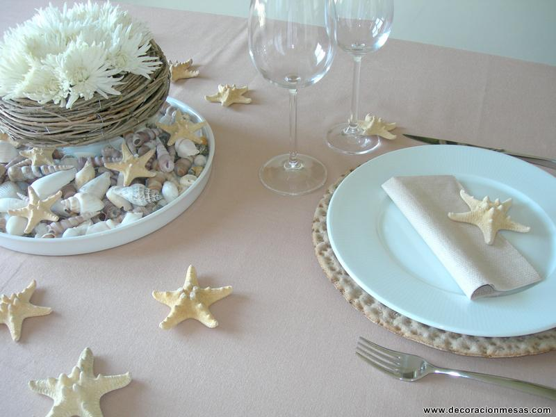 Decoracion de mesas mesa con conchas de mar - Decoracion con conchas ...