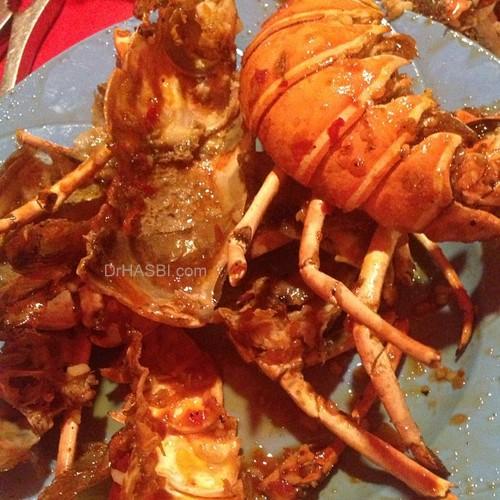 Makan seafood dan lobster di Pasar Filipino Sabah
