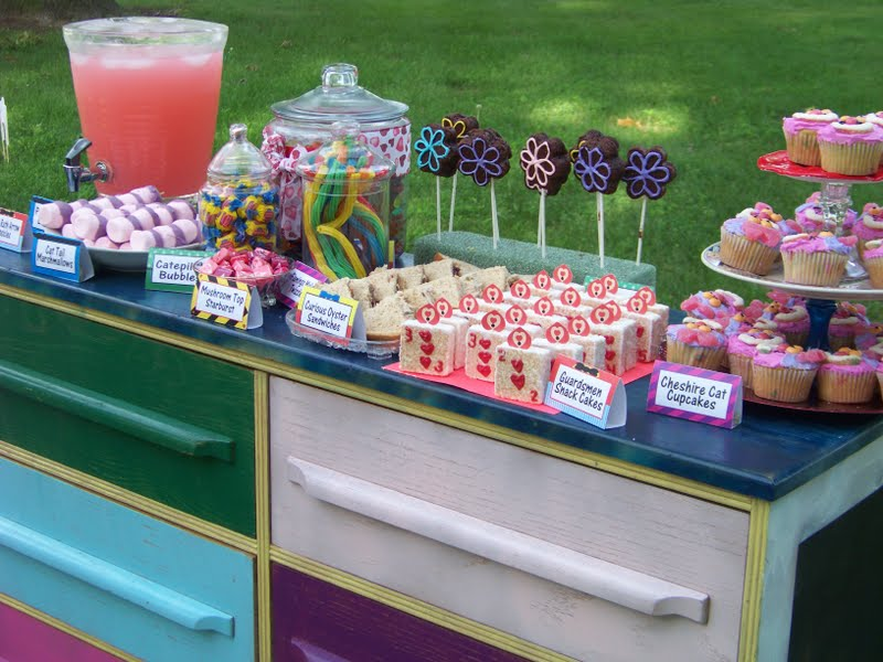 Alice in wonderland birthday party everyday parties for Alice in wonderland party decoration ideas
