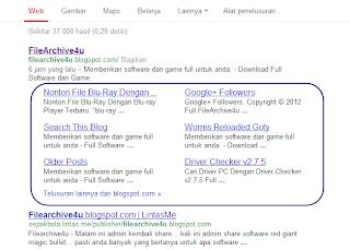 sitelinks di webmaster google tools