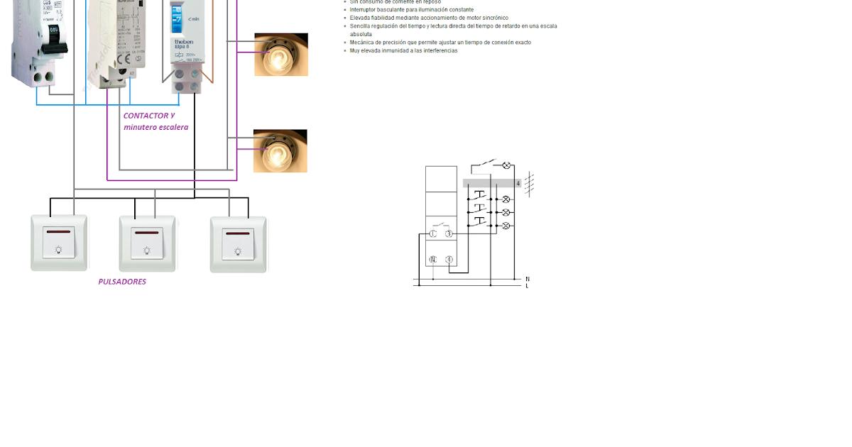 Extractor De Baño Sica:minutero escalera con contactor ~ Esquemas eléctricos