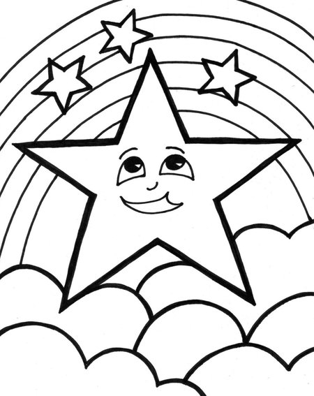 free star coloring pages sheet