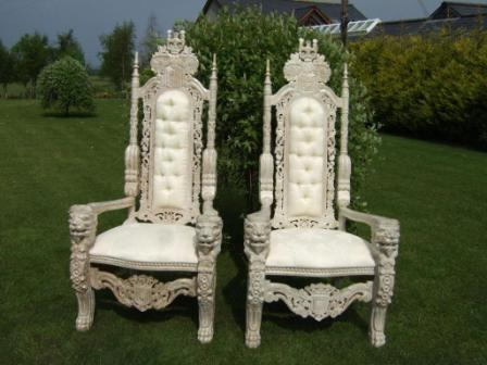 how to make a king throne chair