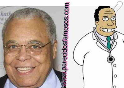 Parecido entre James Earl Jones y Dr Hibbert