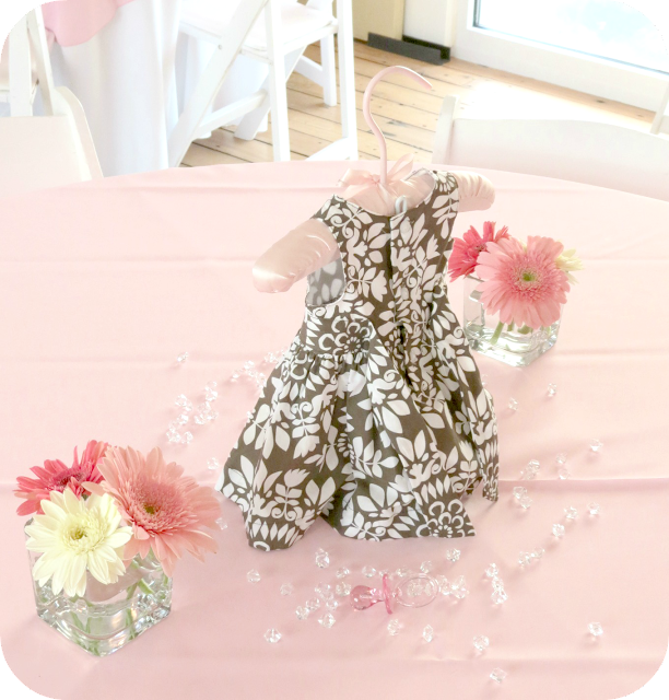 Baby Girl Shower Dress Centerpiece