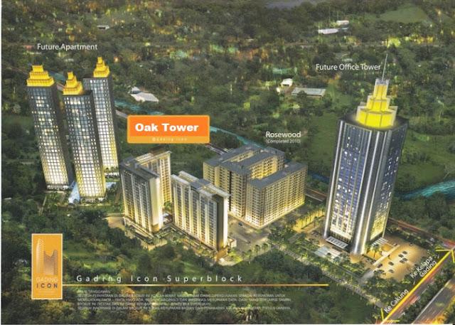 Apartemen Oak Tower Apartemen Gading Icon Apartemen Kelapa Gading