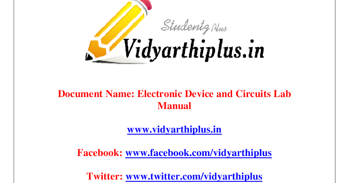edc lab manual Tamil nadu directorate of technical education (tndte) m-scheme syllabus for the year of 2015 - 2016.