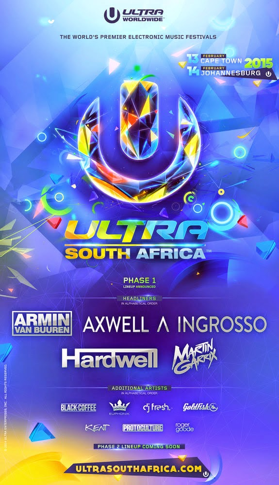 ULTRA SOUTH AFRICA 2015 LINE UP