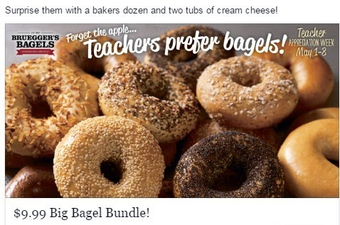 Big Bagel Bundle Deal from Brueggers for Teacher Appreciation Week