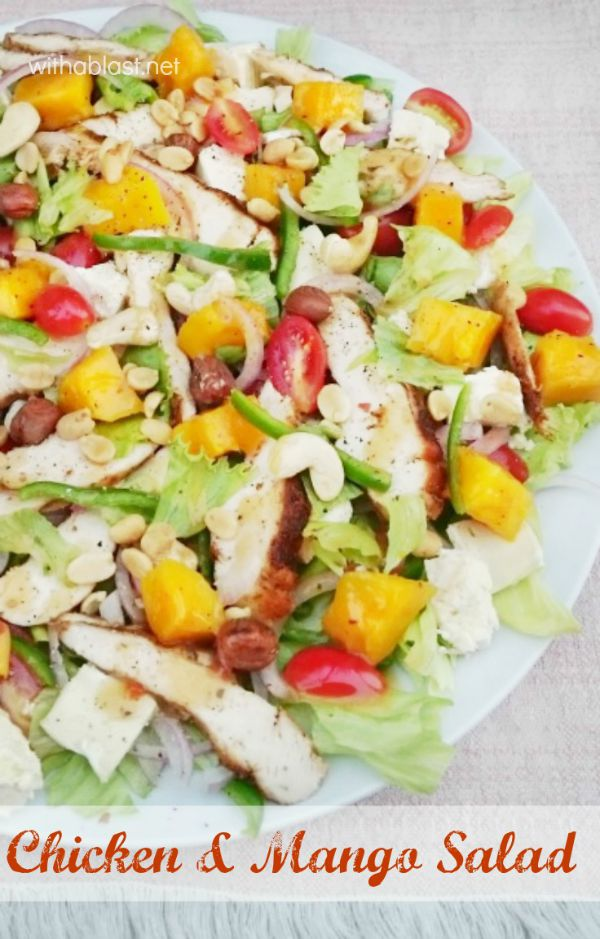 Bursting with flavor ! This Chicken and Mango Salad is perfect for ...