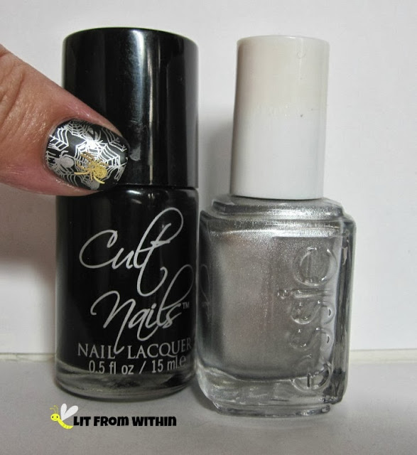 Bottle shot:  Cult Nails Fetish, and Essie No Place Like Chrome.