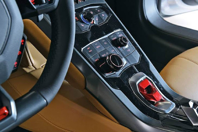 Lamborghini Huracan - console central