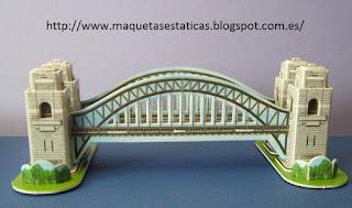 maqueta del puente de la bahía de Sídney