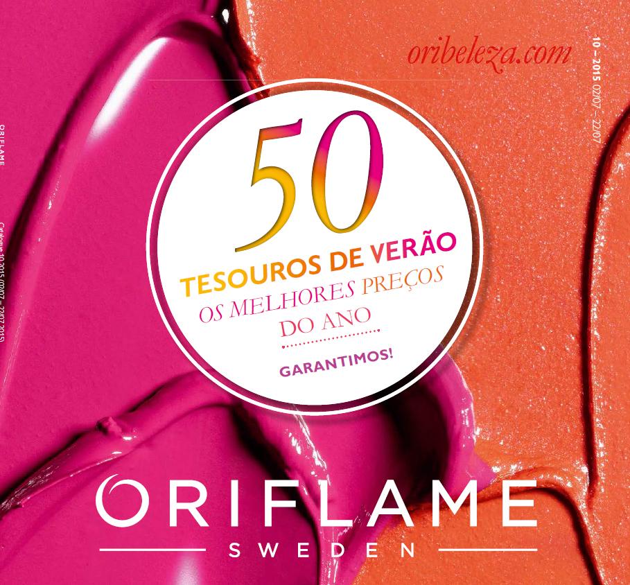 Catálogo 10 de 2015 da Oriflame