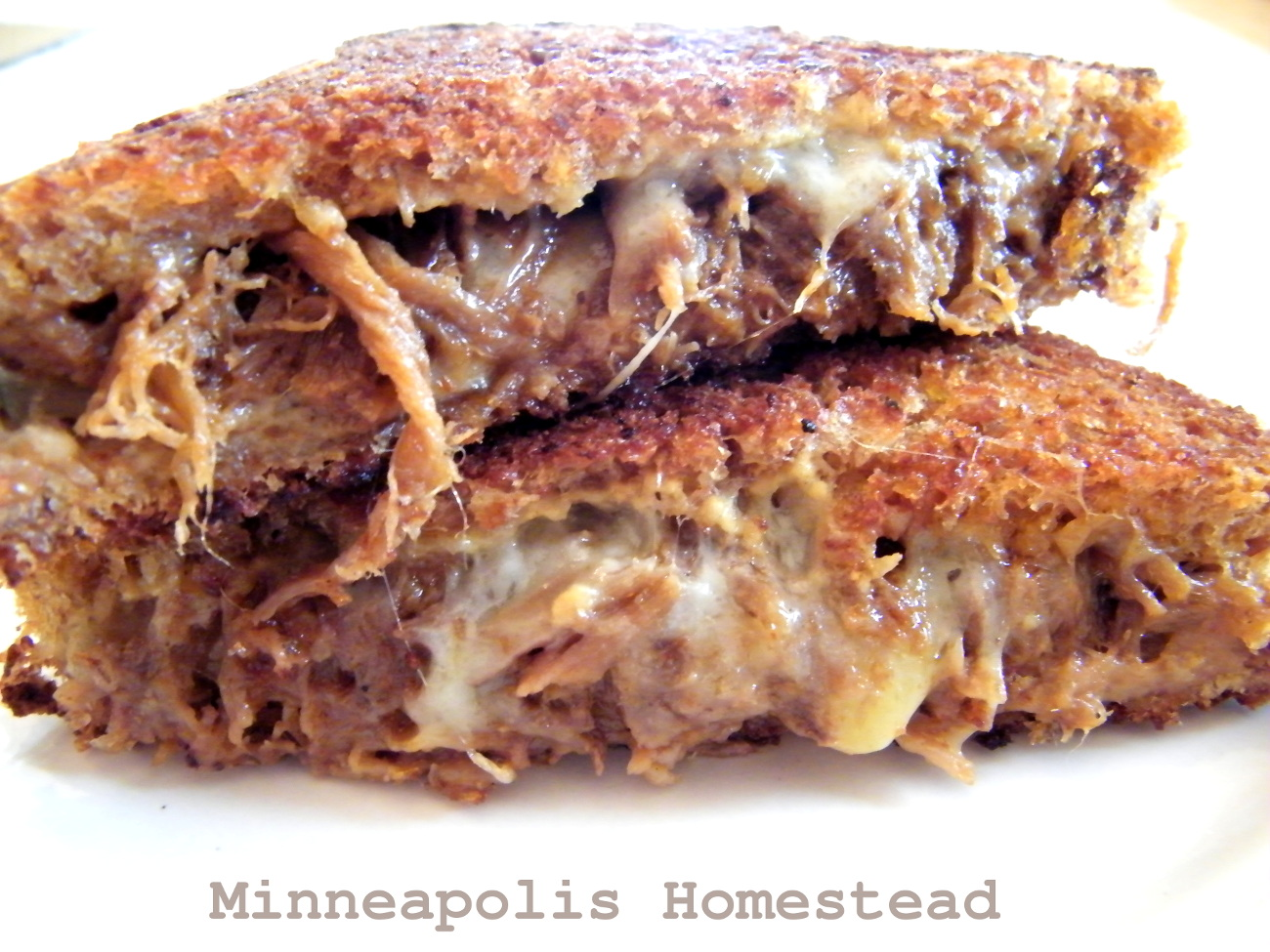 Pulled pork sandwich with cheese recipe