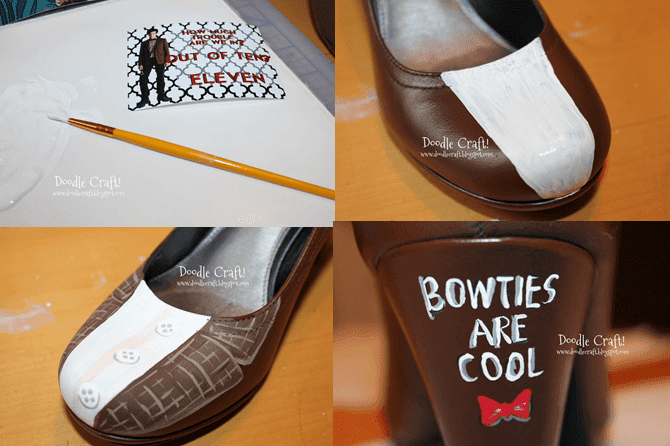 el yapımı boyalı ayakkabı hazırlanışı