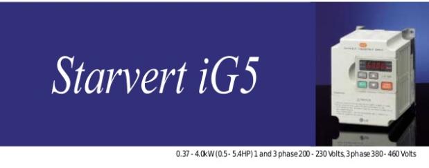 Hướng dẫn cài đặt biến tần LS Starvert iG5A