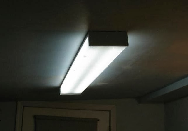 Fluorescent ceiling light fixtures