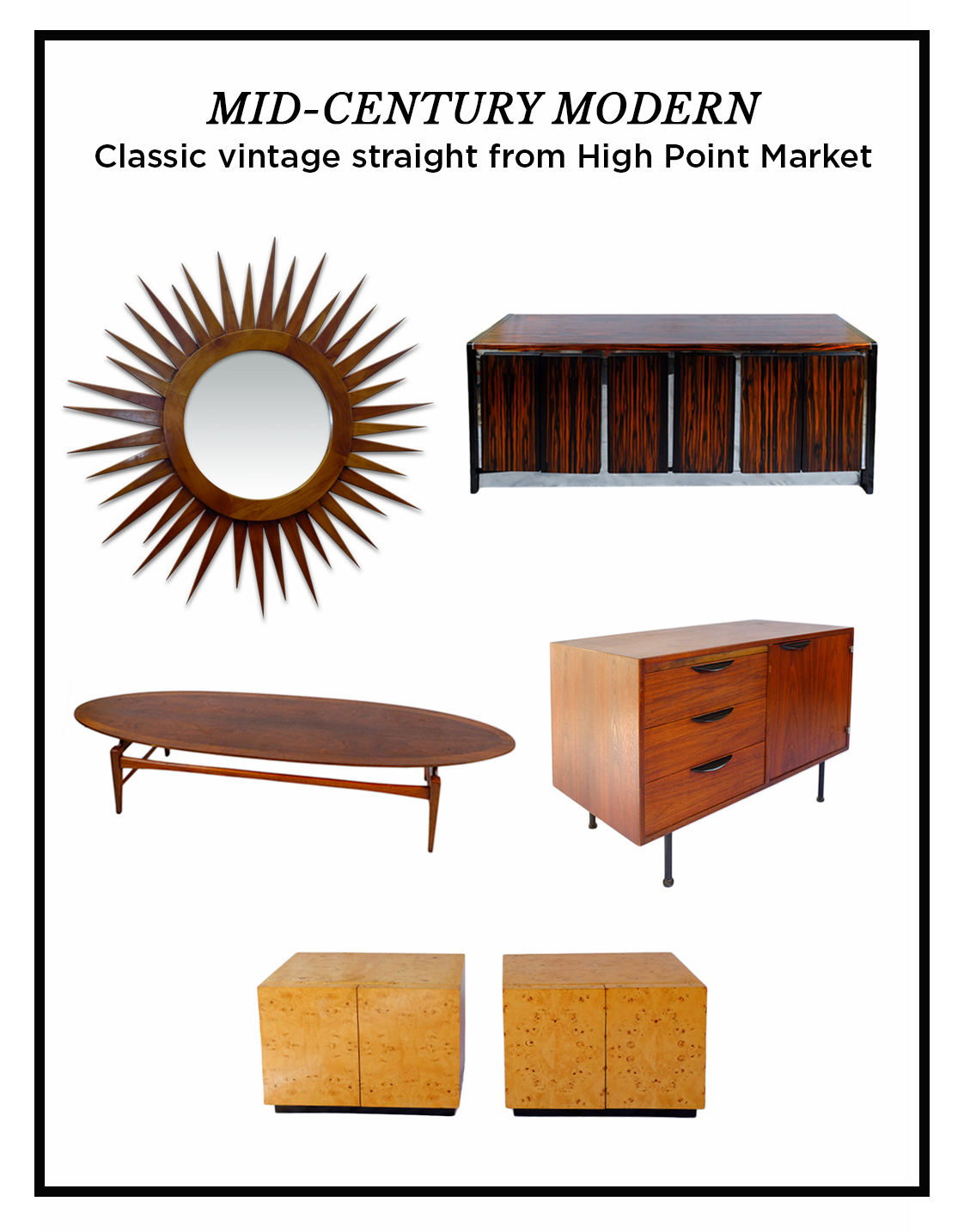 Our semi annual trip the High Point Market in North Carolina always lands  us in a trove of great vintage furniture  This year s haul has made its way  back. New Arrivals  Mid Century Modern   Weisshouse