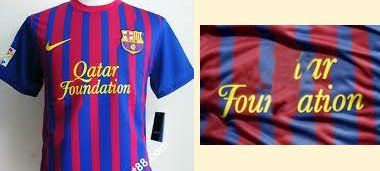 FC Barcelona shirt: before and after