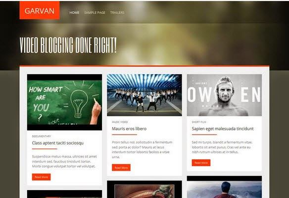 Garvan Free Portfolio WordPress Theme