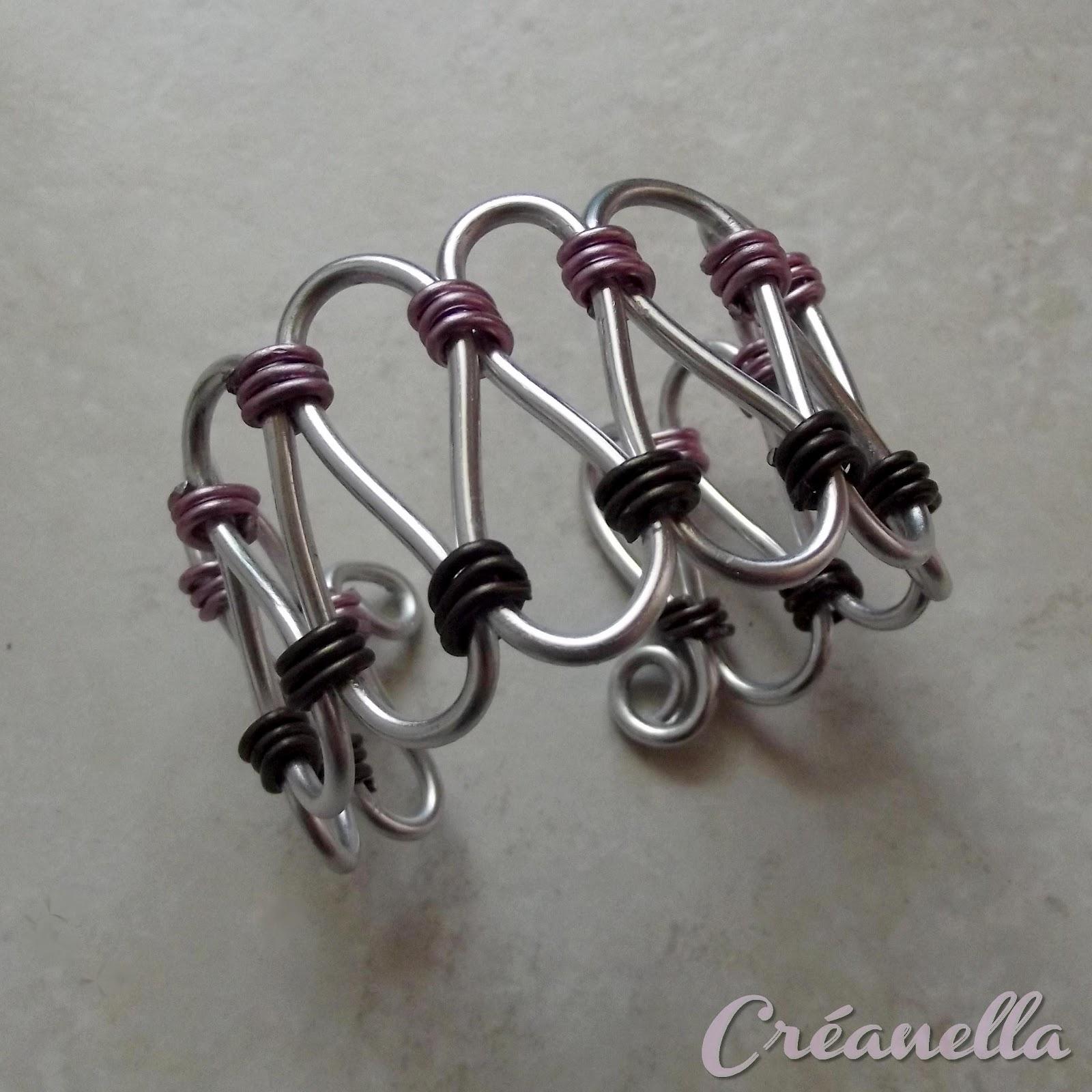 cr anella atelier cr atif bracelet en fil alu. Black Bedroom Furniture Sets. Home Design Ideas