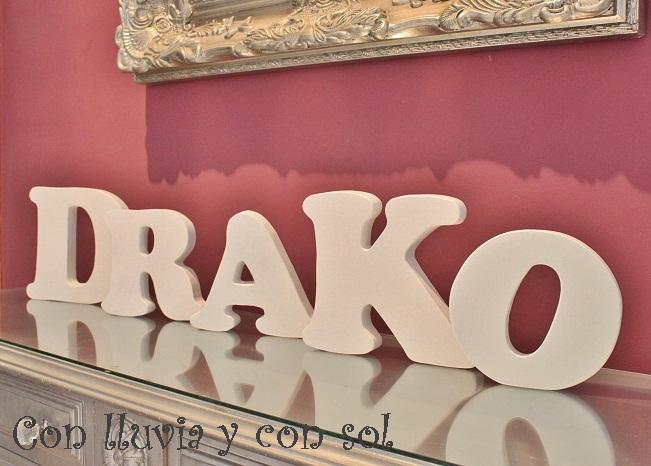 Con lluvia y con sol letras decorativas el nombre de tu - Letras decorativas pared ...