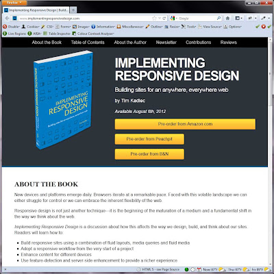 Screen shot of http://www.implementingresponsivedesign.com/.