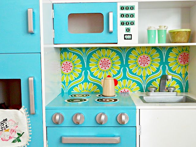 1950s inspired toy kitchen redo Just Peachy, Darling