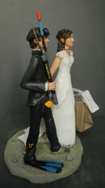 statuine torta nuziale matrimonio cake topper realistici orme magiche
