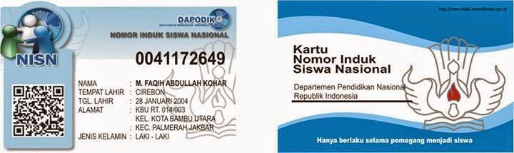 jasa pembuatan kartu nisn, ID Card siswa, kartu pelajar siswa termasuk NISN. cetak kartu NISN