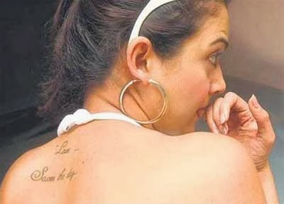 Bollywood actresses leaked personal tattoos Pics