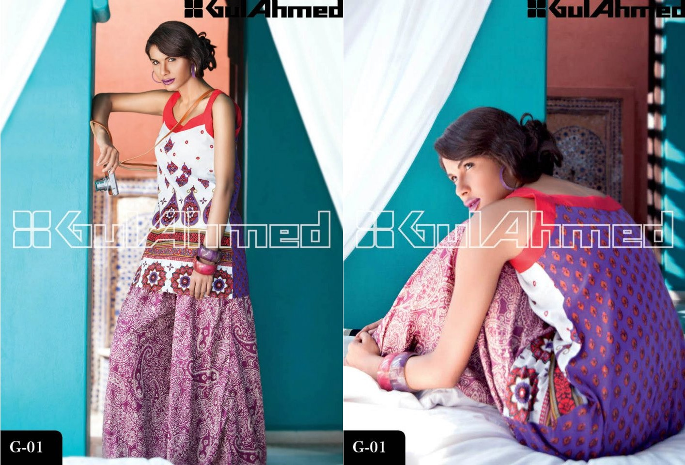 Designer Wear , Gul Ahmed , Lawn Fabric , Magazine , Tops / Tunics ...